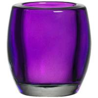 Glasstage, Bolsius, 7,5cm, Ø6,2cm, lilla, glas, til fyrfadslys