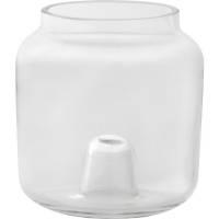 Glaslysestage, Duni, 9,5cm, Ø9cm, klar, glas, 2-i-1 *Denne vare tages ikke retur*