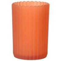 Glaslysestage, Duni Patio, 12,5cm, Ø7,5cm, mandarin, glas *Denne vare tages ikke retur*