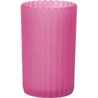 Glaslysestage, Duni Patio, 12,5cm, Ø7,5cm, fuchsia, glas *Denne vare tages ikke retur*