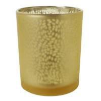 Lysestage, Duni Arctic, 7cm, Ø6cm, honey, glas, metallic design   *Denne vare tages ikke retur*