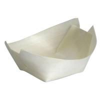 Træbåd, Abena Gastro-Line, 7x5,5x2,5cm, brun, træ, komposterbar