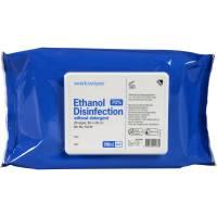 Desinfektion Wet Wipe, med ethanol, uden sæbe, mini, 70% alkohol, blå, 20x30 (25 stk. pr. pakke)