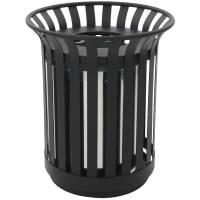 Udendørs affaldsspand, 69 l, sort