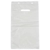 Bærepose, 5 l, hvid, HDPE/virgin, 24,5x40,5cm