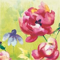 Kaffeserviet, Duni Garden Joy, 3-lags, 1/4 fold, 24x24cm, flerfarvet, papir