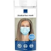 Ansigtsmaske med øreelastikker, type IIR, Abena Excellent, 3-lags, blå, engangs *Denne vare tages ikke retur*