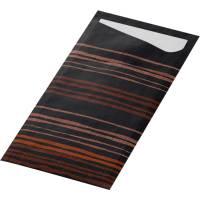 Bestiklomme, Duni Sacchetto, Brooklyn Black, 19x8,5cm, sort, papir, med serviet
