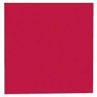 Middagsserviet, Tuscany, 3-lags, 1/4 fold, 40x40cm, rød