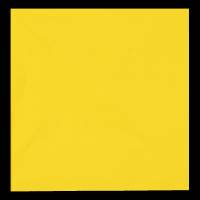 Frokostserviet, Bulkysoft, 3-lags, 1/4 fold, 33x33cm, gul, 100% nyfiber