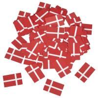Strøflag, 2,4x1,6cm, rød, papir, i pose *Denne vare tages ikke retur*