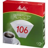 Kaffefilter, Melitta, filterpapir, 106, 1x6, bleget