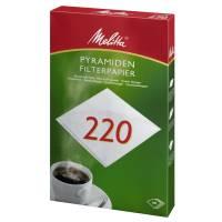 Pyramidefilter, Melitta, filterpapir, 220, bleget