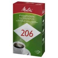 Pyramidefilter, Melitta, filterpapir, 206, bleget