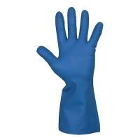 Husholdningshandske, DPL Interface Plus, 8, blå, nitril, indvendig velourisering