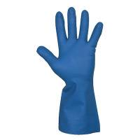 Husholdningshandske, DPL Interface Plus, 9, blå, nitril, indvendig velourisering
