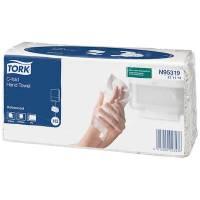 Håndklædeark, 2-lags, C-fold, 27,5x24cm, 9,5 cm, hvid, 100% genbrugspapir