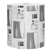 Håndklæderulle, Katrin Plus, 2-lags, 100m x 21cm, Ø19cm, hvid, 100% nyfiber