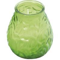 Lysbowle, Bolsius, 10,5cm, Ø9,5cm, limegrøn, 70 timer, paraffin/glas, 100% paraffin, i glasbowle