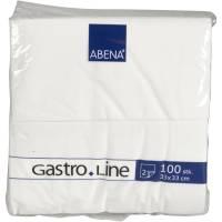 Frokostserviet, Abena Gastro-Line, 2-lags, 1/8 fold, 33x33cm, hvid, 100% nyfiber