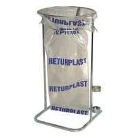Affaldsstativ, 240 l, stål