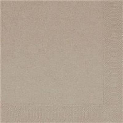Image of   Frokostserviet, Duni, 3-lags, 1/4 fold, 33x33cm, greige, papir *Denne vare tages ikke retur*