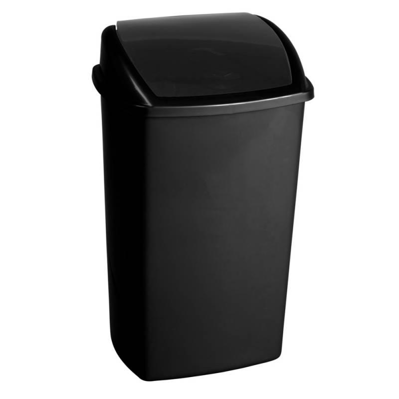 Image of   Affaldsspand, 30x40x68cm, 50 l, sort, plast, med sving låg *Denne vare tages ikke retur*