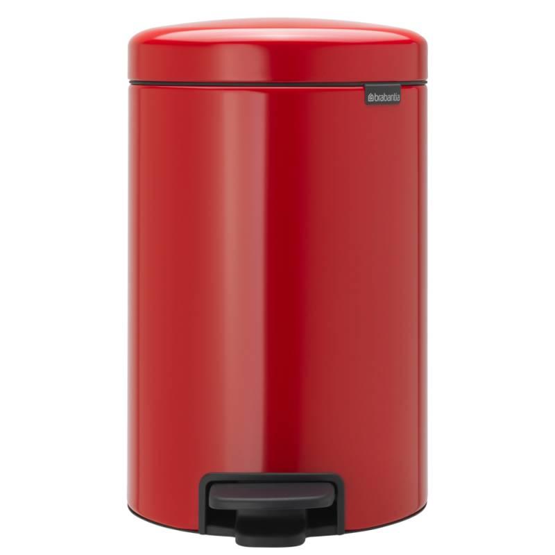 Image of   Pedalspand, Brabantia newIcon, 12 l, rød *Denne vare tages ikke retur*