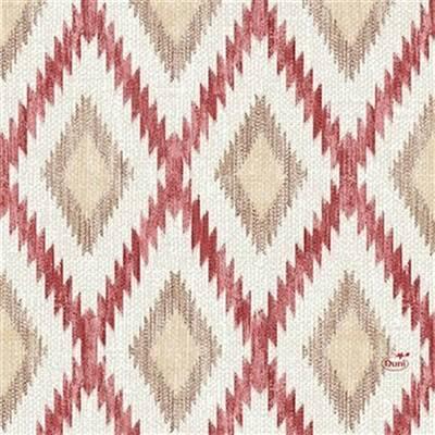 Image of   Frokostserviet, Duni Malina, 3-lags, 1/4 fold, 33x33cm, bordeaux, papir *Denne vare tages ikke retur*