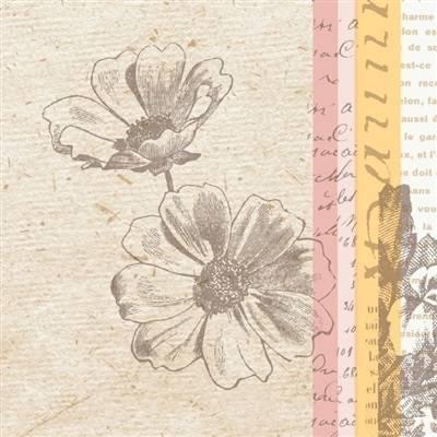 Image of   Middagsserviet, Dunilin Zendo, 1/4 fold, 40x40cm, mandarin *Denne vare tages ikke retur*