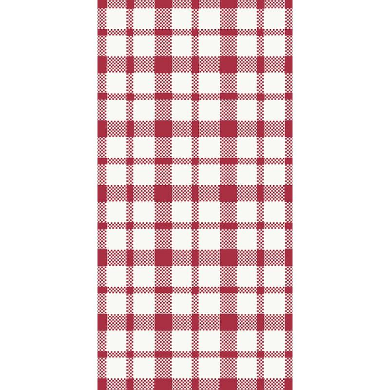 Middagsserviet, Duni Giovanni, 3-lags, 1/8 fold, 40x40cm, rød, papir *Denne vare tages ikke retur*