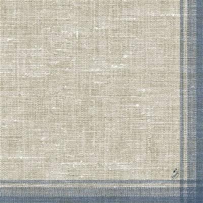Middagsserviet, Duni Linus, 3-lags, 1/4 fold, 40x40cm, blå, papir *Denne vare tages ikke retur*