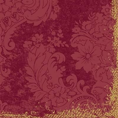 Image of   Middagsserviet, Dunilin Royal, 1/4 fold, 40x40cm, bordeaux *Denne vare tages ikke retur*