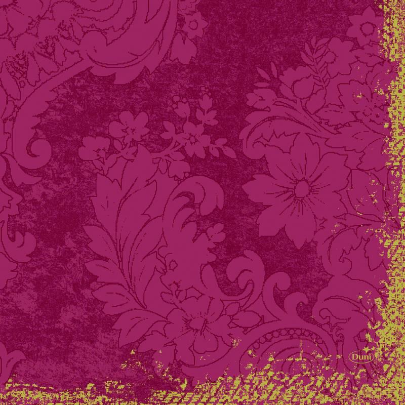 Frokostserviet, Duni Royal, 3-lags, 1/4 fold, 33x33cm, bordeaux, papir *Denne vare tages ikke retur*