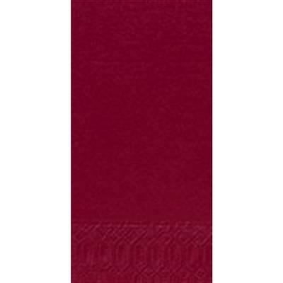 Image of   Frokostserviet, Duni, 3-lags, 1/8 fold, 33x33cm, bordeaux, papir *Denne vare tages ikke retur*