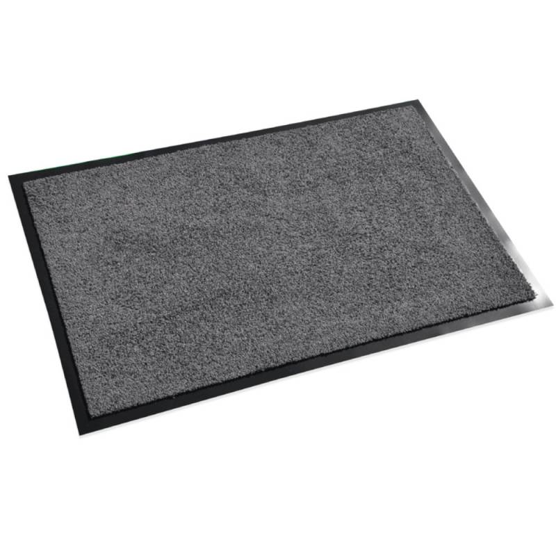 Image of   Tekstilmåtte, 1,5m x 90cm, grå, nylon/PVC, med bagside, vaskbar *Denne vare tages ikke retur*