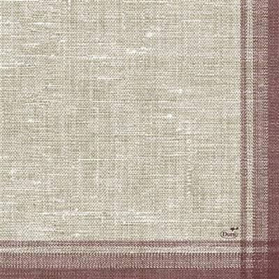 Frokostserviet, Duni Linus, 3-lags, 1/4 fold, 33x33cm, bordeaux, papir *Denne vare tages ikke retur*