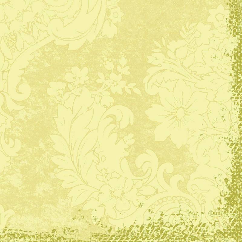 Frokostserviet, Duni Royal, 3-lags, 1/4 fold, 33x33cm, buttermilk, papir *Denne vare tages ikke retur*
