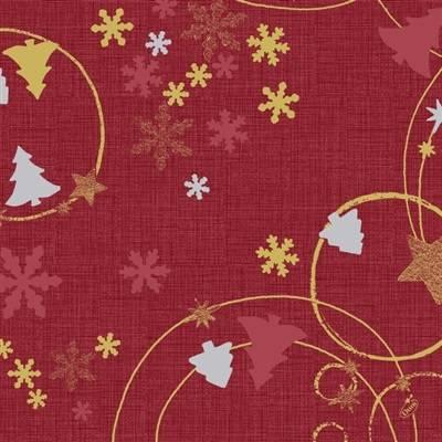 Image of   Middagsserviet, Dunilin Seasons joy, 1/4 fold, 40x40cm, rød *Denne vare tages ikke retur*