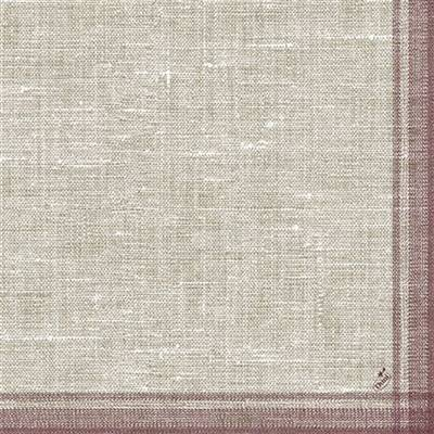 Image of   Middagsserviet, Dunilin Linus, 1/4 fold, 40x40cm, bordeaux *Denne vare tages ikke retur*