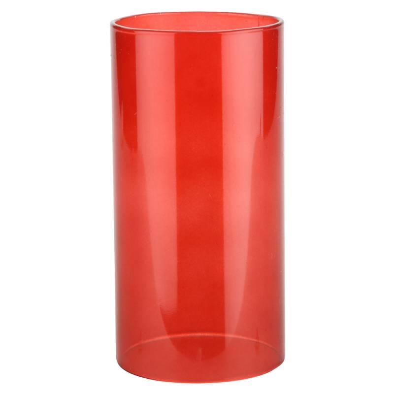 Image of   Basic stage, 14cm, Ø7cm, rød, glas, til basic bund *Denne vare tages ikke retur*