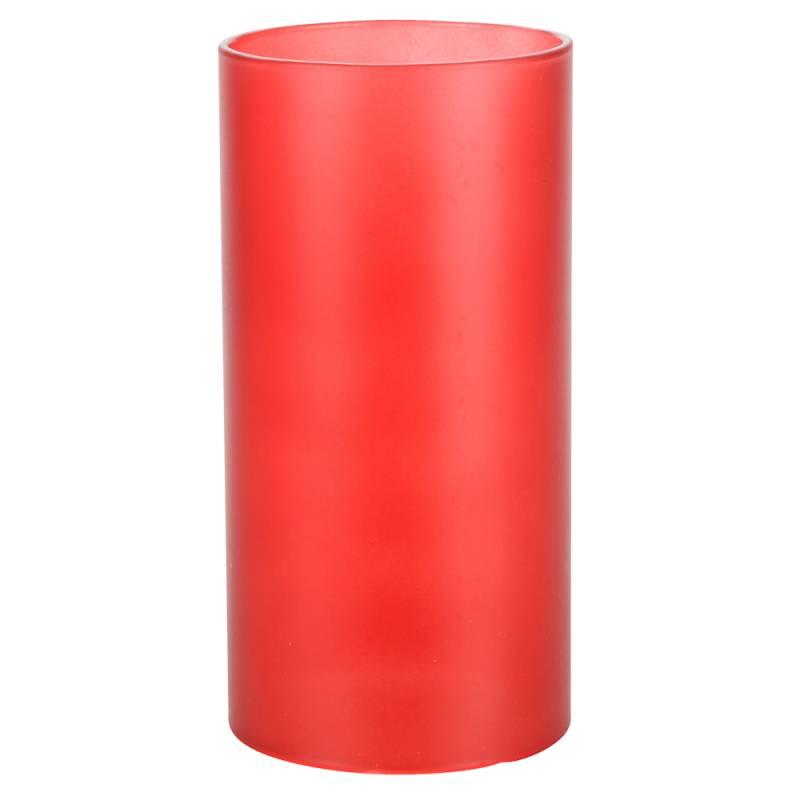 Image of   Basic stage, 14cm, Ø7cm, frosted rød, glas, til basic bund