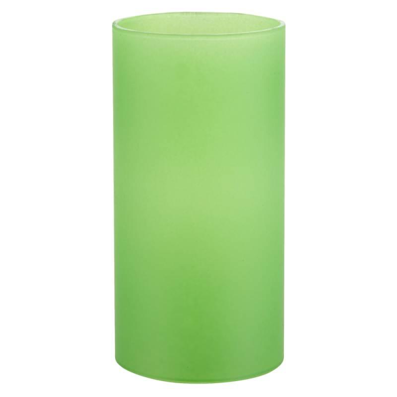 Image of   Basic stage, 14cm, Ø7cm, frosted limegrøn, glas, til basic bund *Denne vare tages ikke retur*