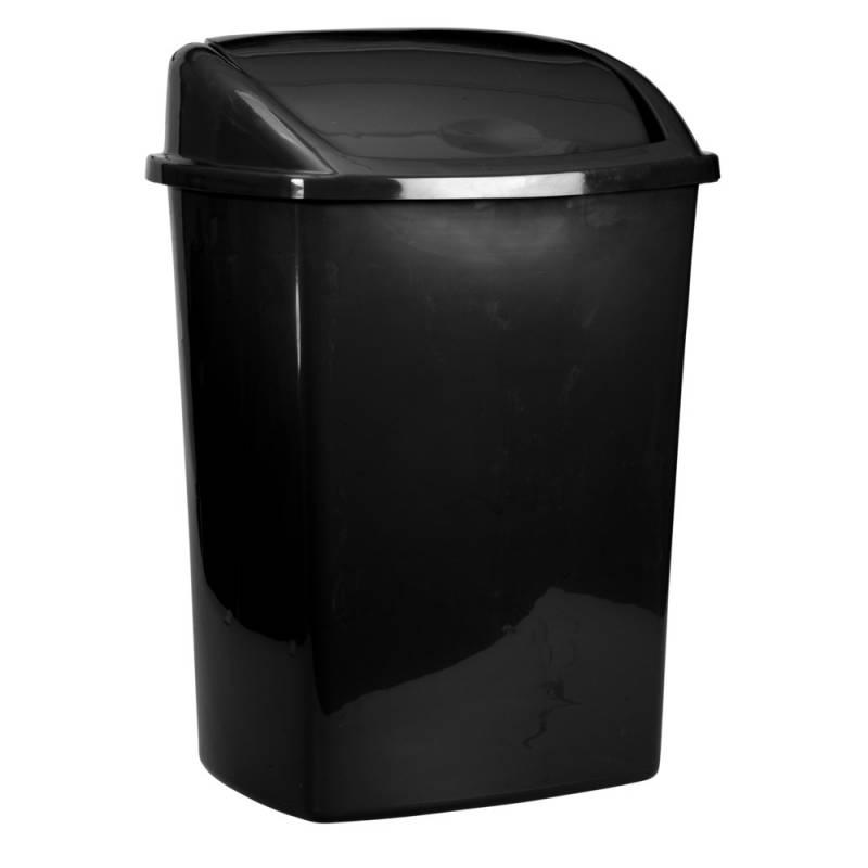 Image of   Affaldsspand, 35,2x48cm, 26 l, sort, plast, med sving låg