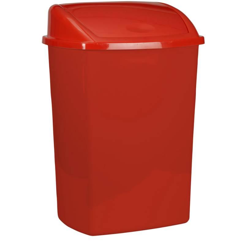 Image of   Affaldsspand, 35,2x48cm, 26 l, rød, plast, med sving låg