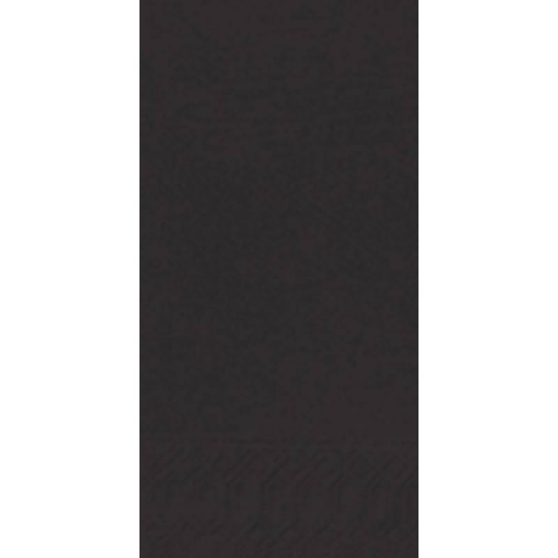 Image of   Frokostserviet, Duni, 3-lags, 1/8 fold, 33x33cm, sort, papir *Denne vare tages ikke retur*