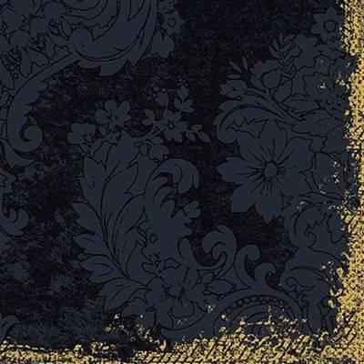 Image of   Middagsserviet, Dunilin Royal, 1/4 fold, 40x40cm, sort *Denne vare tages ikke retur*