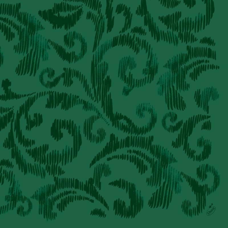 Image of   Middagsserviet, Dunilin Saphira, 1/4 fold, 40x40cm, mørkegrøn *Denne vare tages ikke retur*