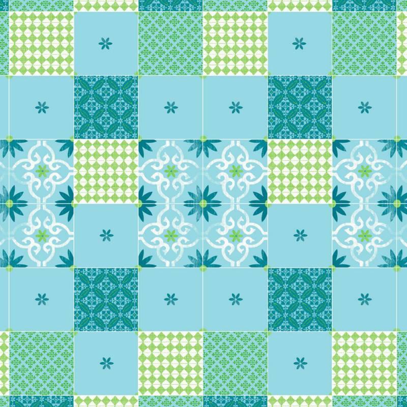 Image of   Stikdug, Dunicel Maja, 84x84cm, blå *Denne vare tages ikke retur*