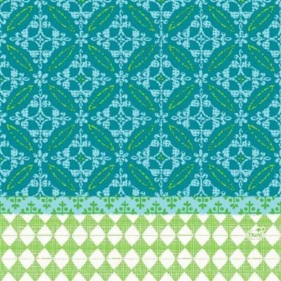 Image of   Frokostserviet, Duni Maja, 3-lags, 1/4 fold, 33x33cm, flerfarvet, papir *Denne vare tages ikke retur*